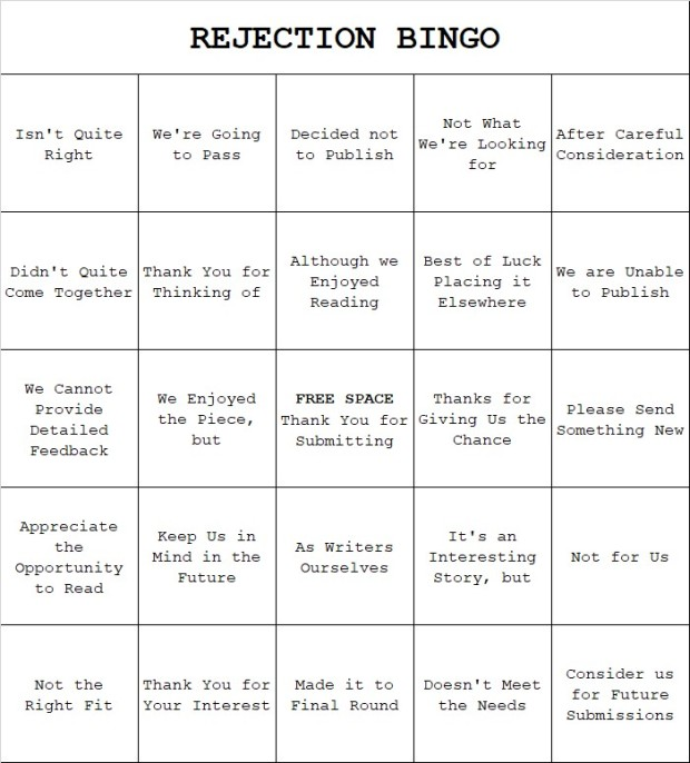 Let's Play Rejection Bingo | REJECTOMANCY